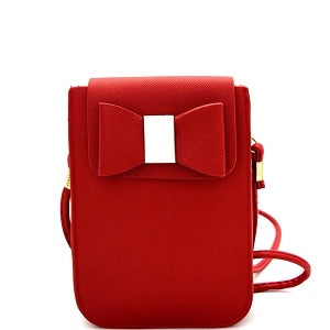 Red Bow Accent Cellphone Holder Crossbody