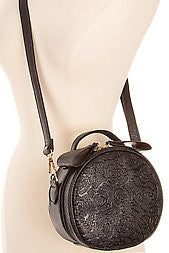 Black Round Shoulder Bag