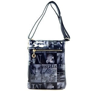 Black Magazine Messenger Bag