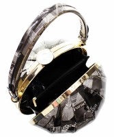 Black and White Magazine Ball Satchel