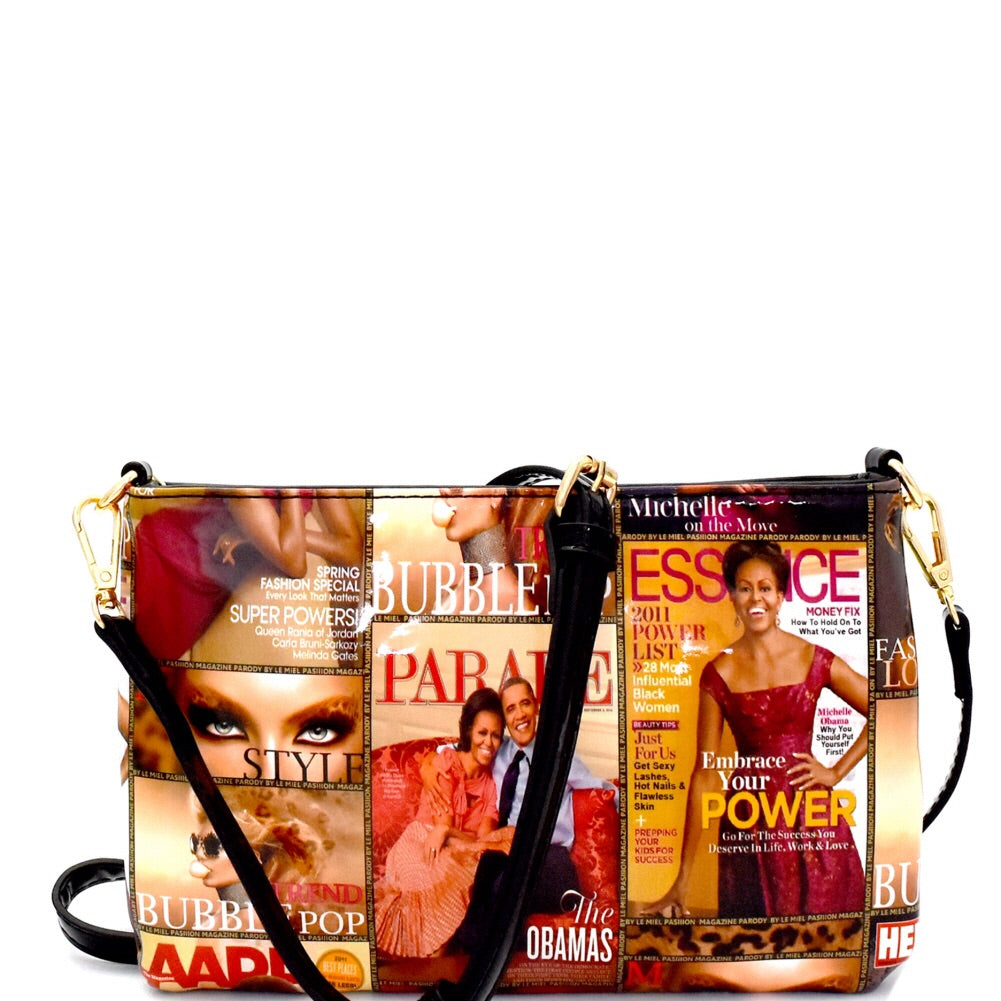 Trendy Michelle Obama Magazine Messenger Bag Multi