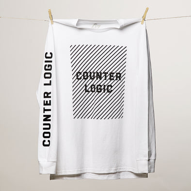 White Lines Long Sleeve Tee