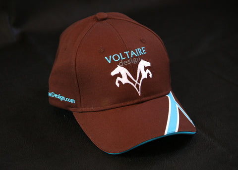 NEW Voltaire Design Baseball Cap in Brown