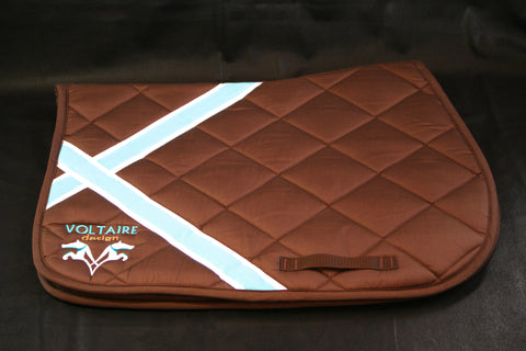 NEW Voltaire Design Saddle Pad in Brown (Full/Horse Size)