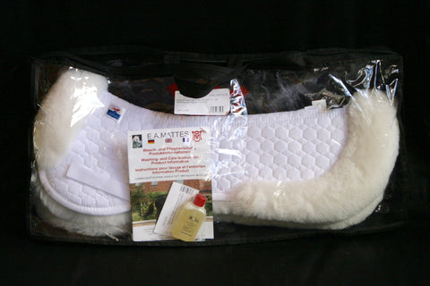 NEW Mattes AP Sheepskin Half Pad with Rear Trim (Large)