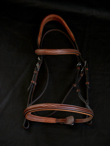 NEW Antares Fancy Stitched, Raised + Padded Hunter Bridle (Size 2)