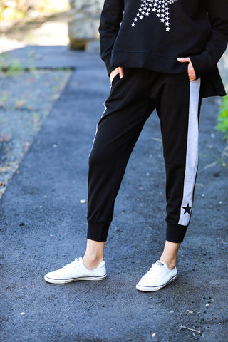 Contrast Star Panel Jogger