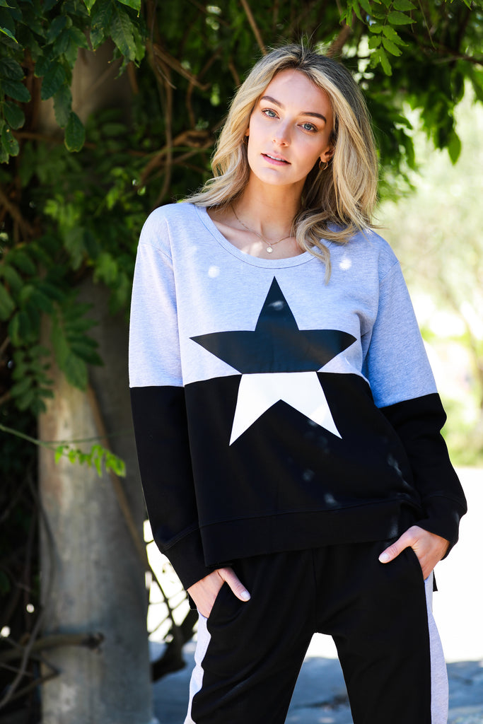 Contrast Star Sweater