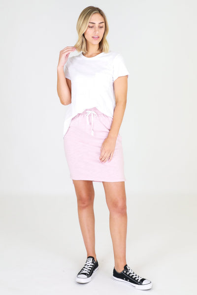 Alice Blush Cotton Skirt