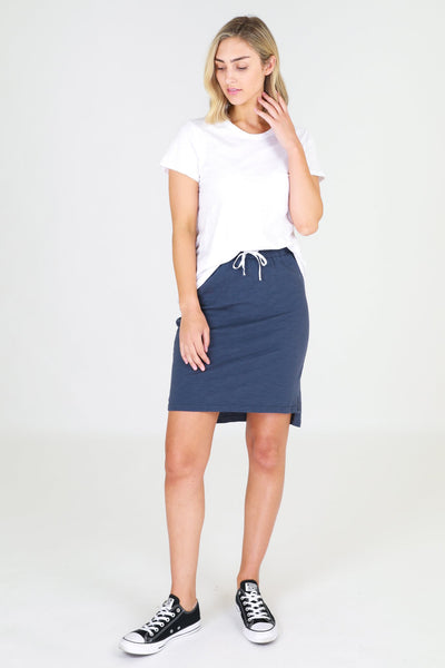 Alice Indigo Cotton Skirt by 3rd Story
