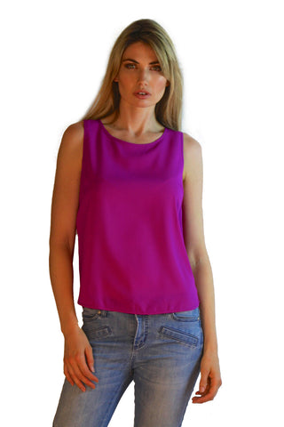 Purple Staple Tank