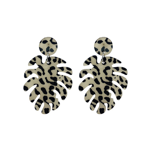Leopard Monsteria Earrings