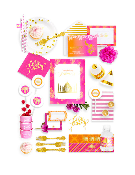 Bollywood Party In A Box - THE FANCY, The Colors Of Bollywood Party Collection, modern party supplies online