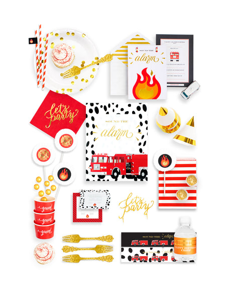 Fire Truck Party In A Box - THE FANCY