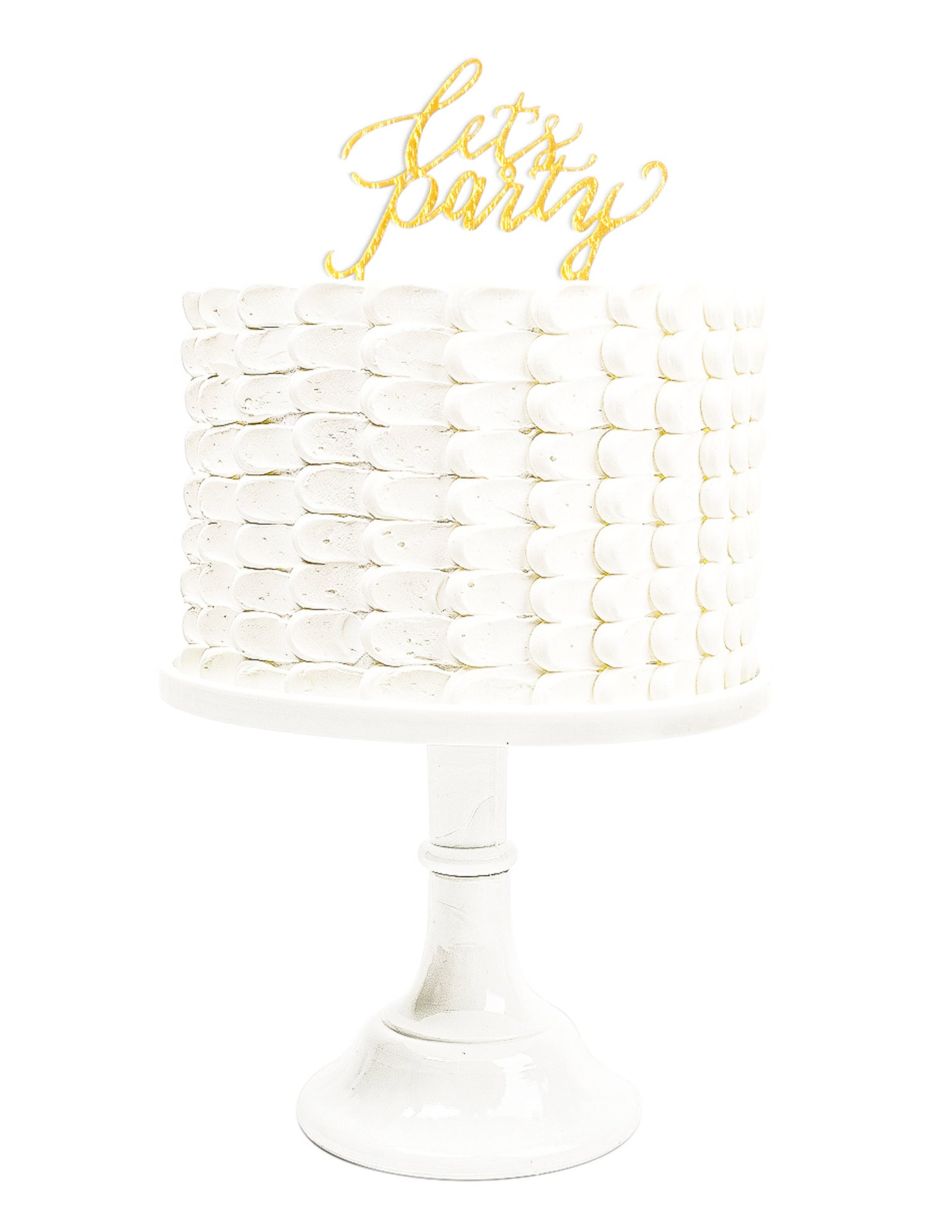 Cake Topper,Metallics Party Collection - CRATED