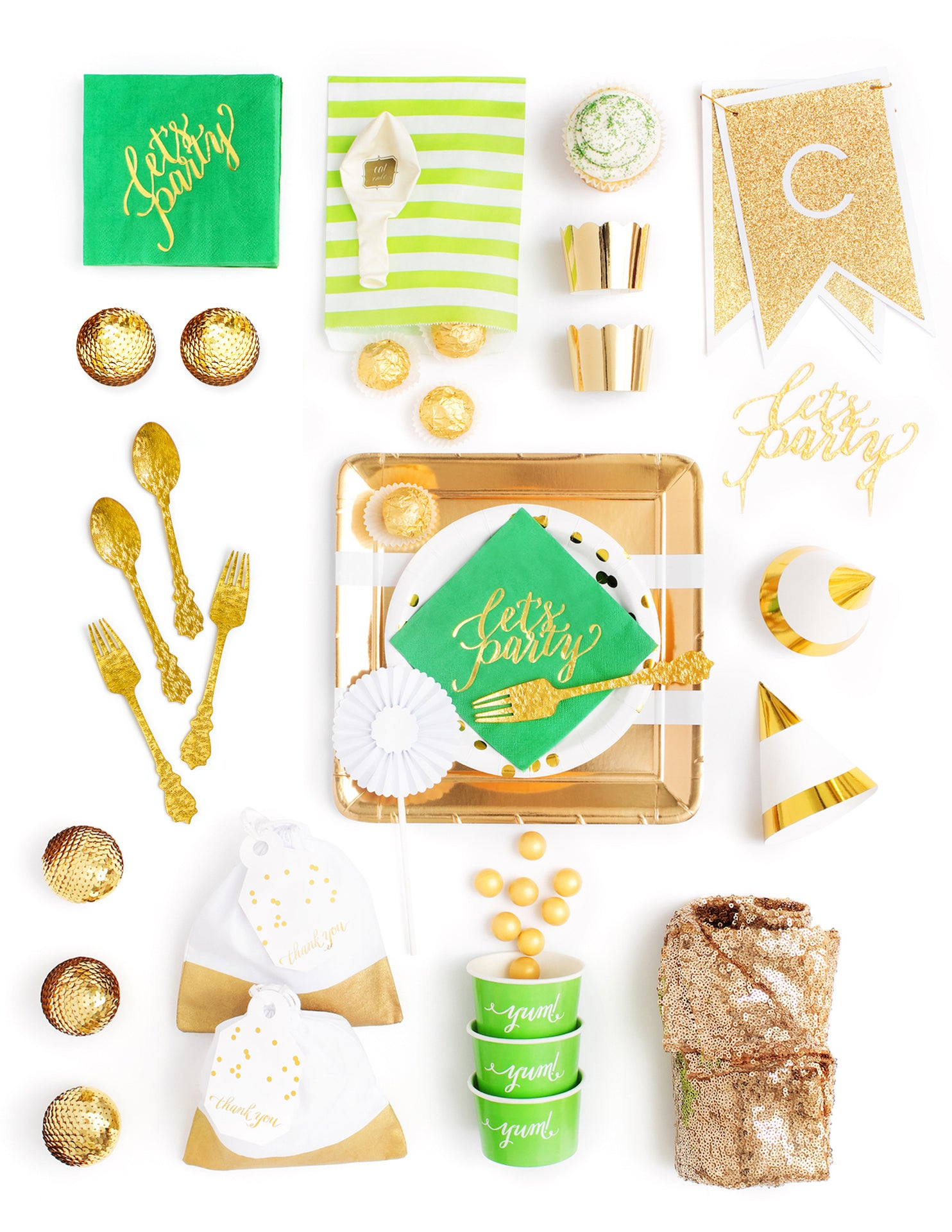 Green Gold Party In A Box