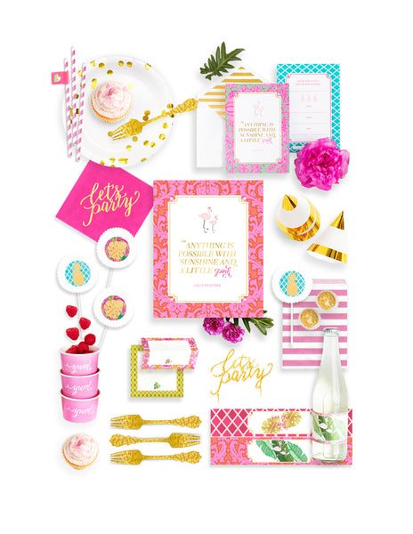 Baby Shower Party In A Box - THE FANCY, Flamingo Party Collection, modern party supplies online