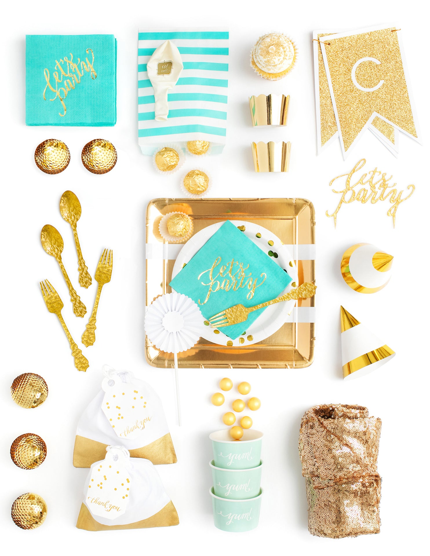 Mint Gold Party In A Box