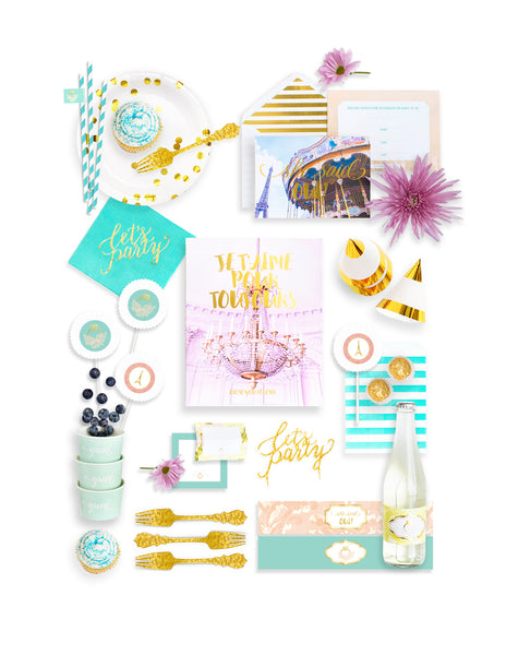 Paris Bridal Shower In A Box - THE FANCY, Oui Party Collection, modern party supplies online