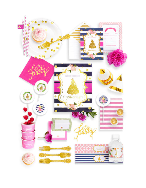 Princess Party In A Box - THE FANCY, Beauty & The Beast Collection, modern party supplies online
