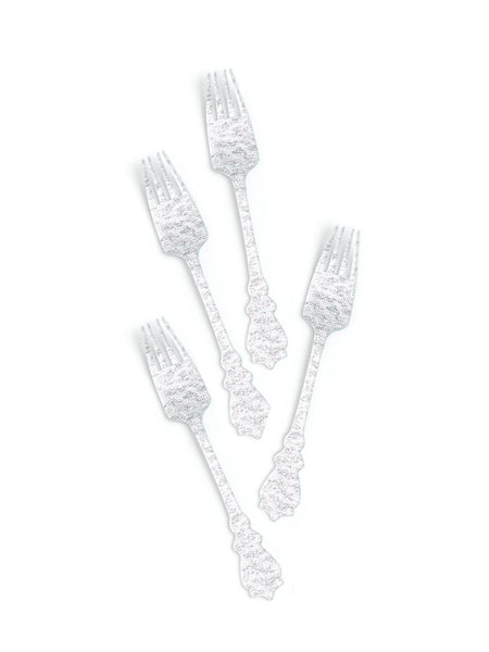Silver Flatware Acrylic, Metallics Party Collection, modern party supplies online