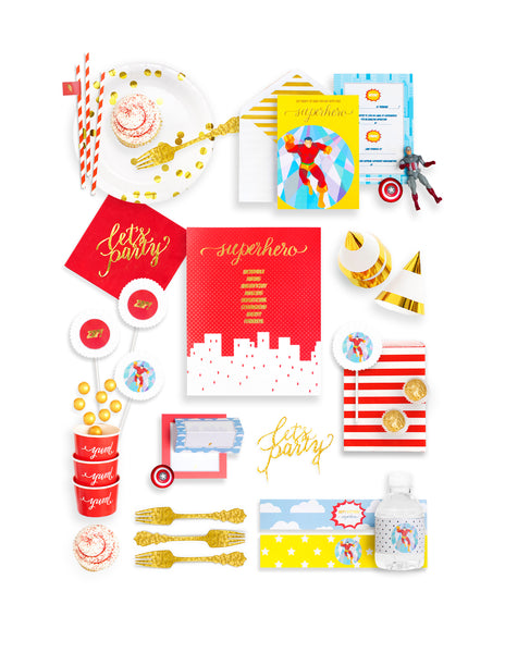 Superhero Party In A Box - THE FANCY, Save The Day Party Collection, modern party supplies online