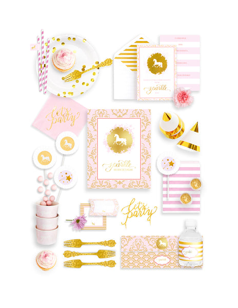 Unicorn Party In A Box - THE FANCY, Sparkle & Shine Party Collection, modern party supplies online