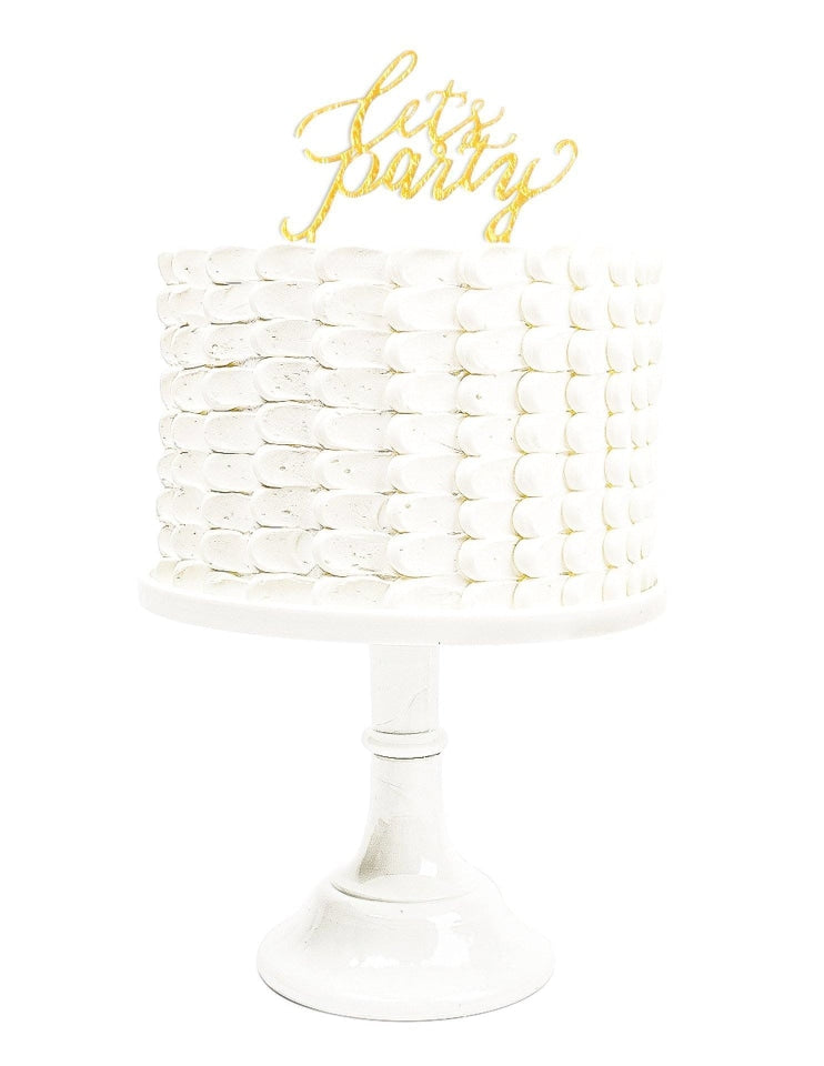 Acrylic Cake Topper, Metallics Party Collection, modern party supplies online