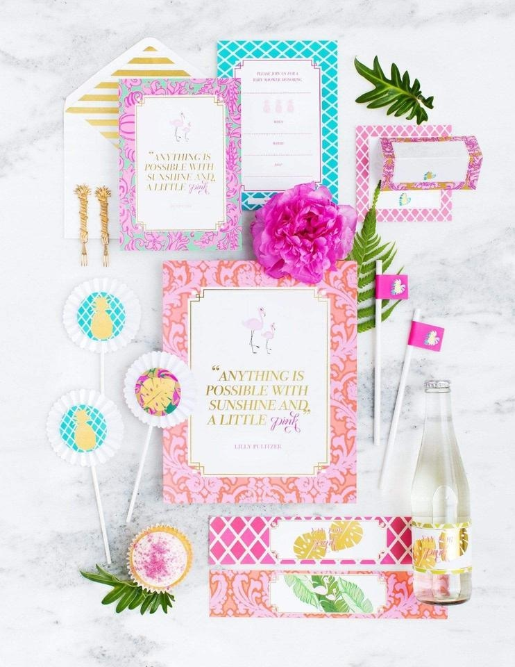 Baby Shower Party In A Box - THE LUXE, Flamingo Party Collection, modern party supplies online