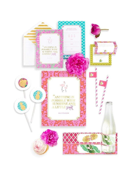 Baby Shower Party In A Box- THE MINI, Flamingo Party Collection, modern party supplies online
