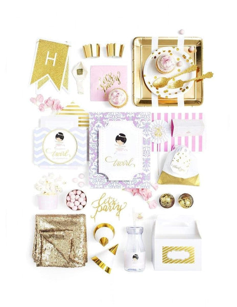 Ballerina Party Birthday Box - THE LUXE, Recital de Ballet Party Collection, modern party supplies online