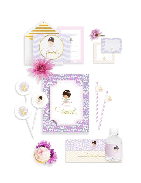 Ballerina Party Birthday Box- THE MINI, Recital de Ballet Party Collection, modern party supplies online