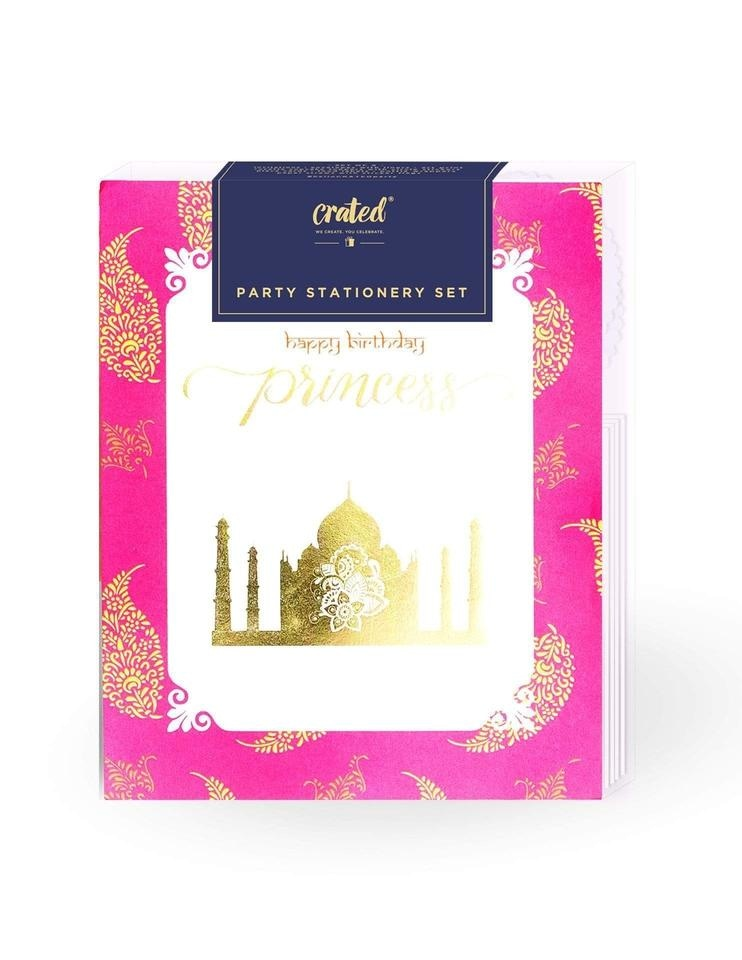 - *gold Mini All Art Print Bollywood Cupcake Topper