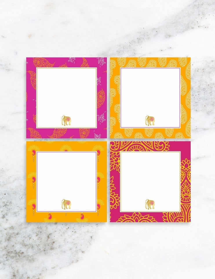 Bollywood Table Place Cards, The Colors Of Bollywood Party Collection, modern party supplies online