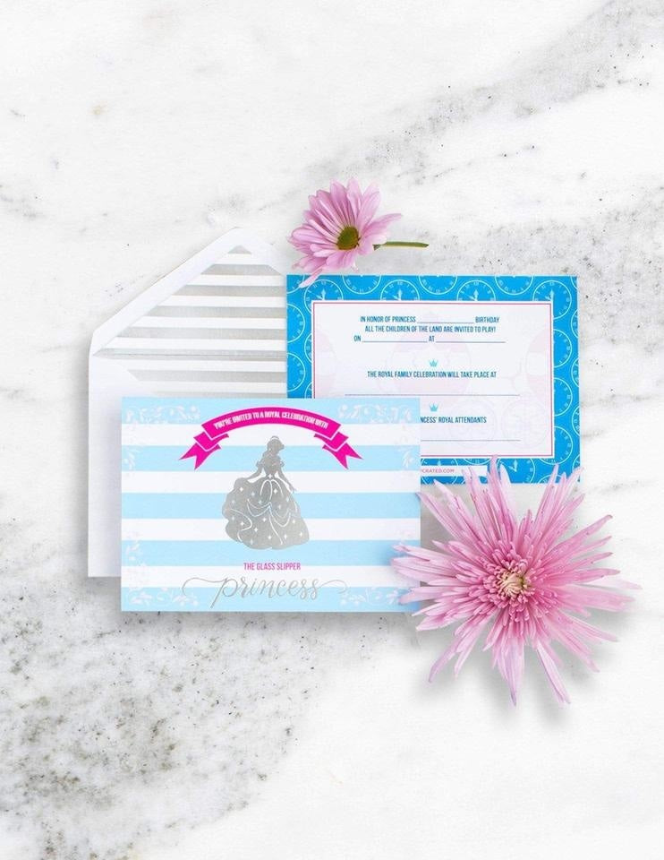 Cinderella Invitations, A Girl, A Shoe, A Party Collection, modern party supplies online
