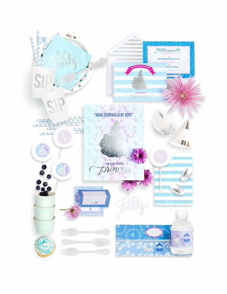 - All Cinderella Princess Silver Fancy Kids Themed-Fancy