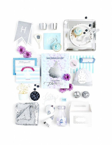 Cinderella Party Birthday Box - THE LUXE, A Girl, A Shoe, A Party Collection, modern party supplies online