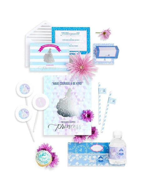Cinderella Party Birthday Box- THE MINI, A Girl, A Shoe, A Party Collection, modern party supplies online