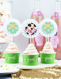 Classic Kate Cupcake Toppers, Cheers, Darling Party Collection, modern party supplies online