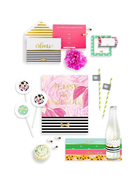Classic Kate Party In A Box- THE MINI, Cheers, Darling Party Collection, modern party supplies online