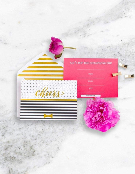 Classic Kate Party Invitations, Cheers, Darling Party Collection, modern party supplies online