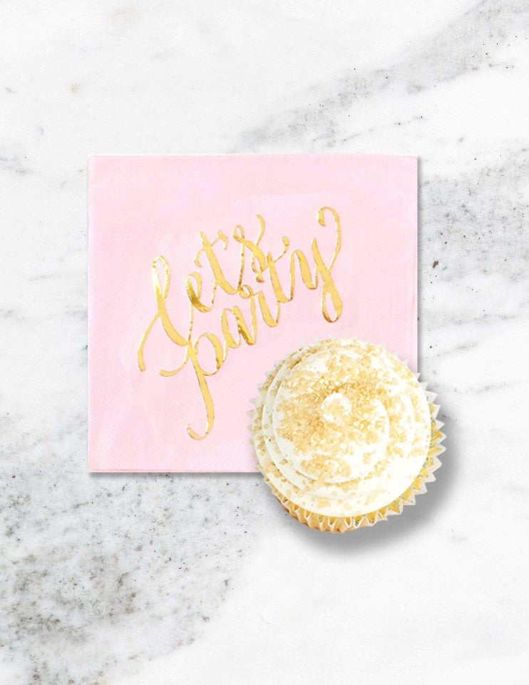 Pink Cocktail Napkins, Crushing On Pink Party Collection, modern party supplies online