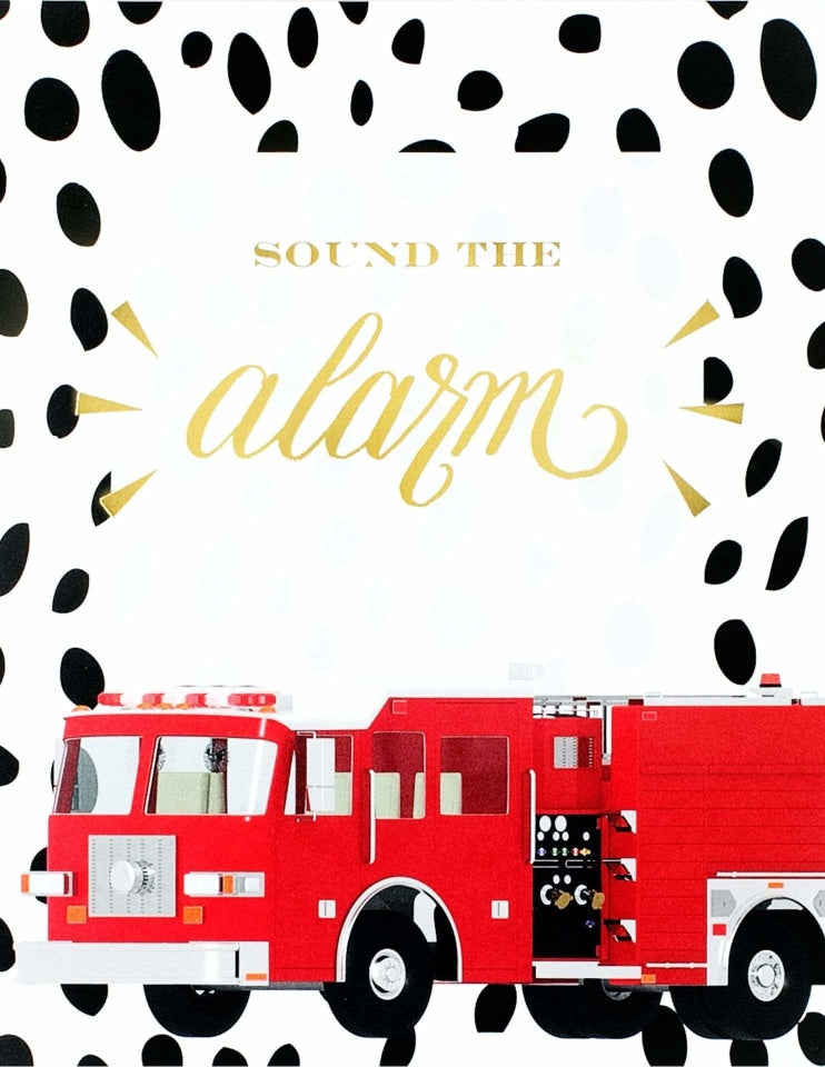 Fire Truck Party Sign, Stop, Drop & Roll Party Collection, modern party supplies online