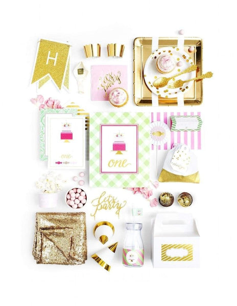 First Birthday Party In A Box - THE LUXE, As Sweet As Her Party Collection, modern party supplies online
