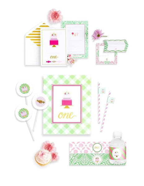 First Birthday Party In A Box- THE MINI, As Sweet As Her Party Collection, modern party supplies online