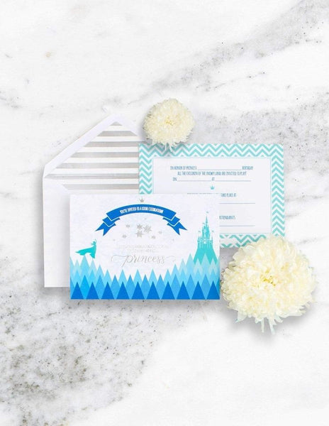 Frozen Party Invitations, The Snow Queen Party Collection, modern party supplies online
