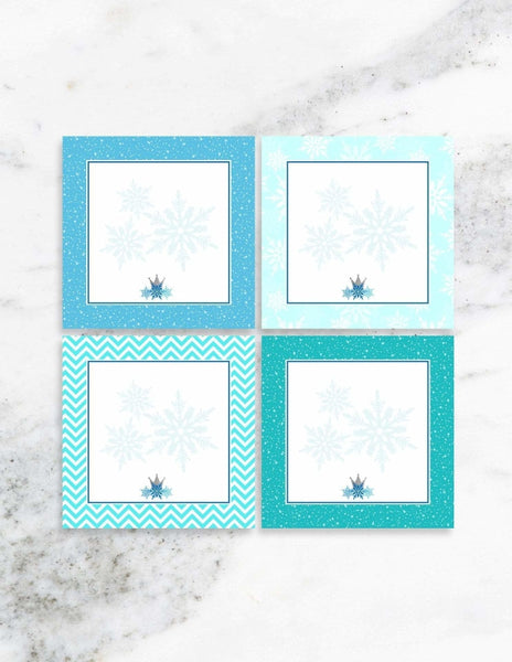 Frozen Party Place Cards, The Snow Queen Party Collection, modern party supplies online