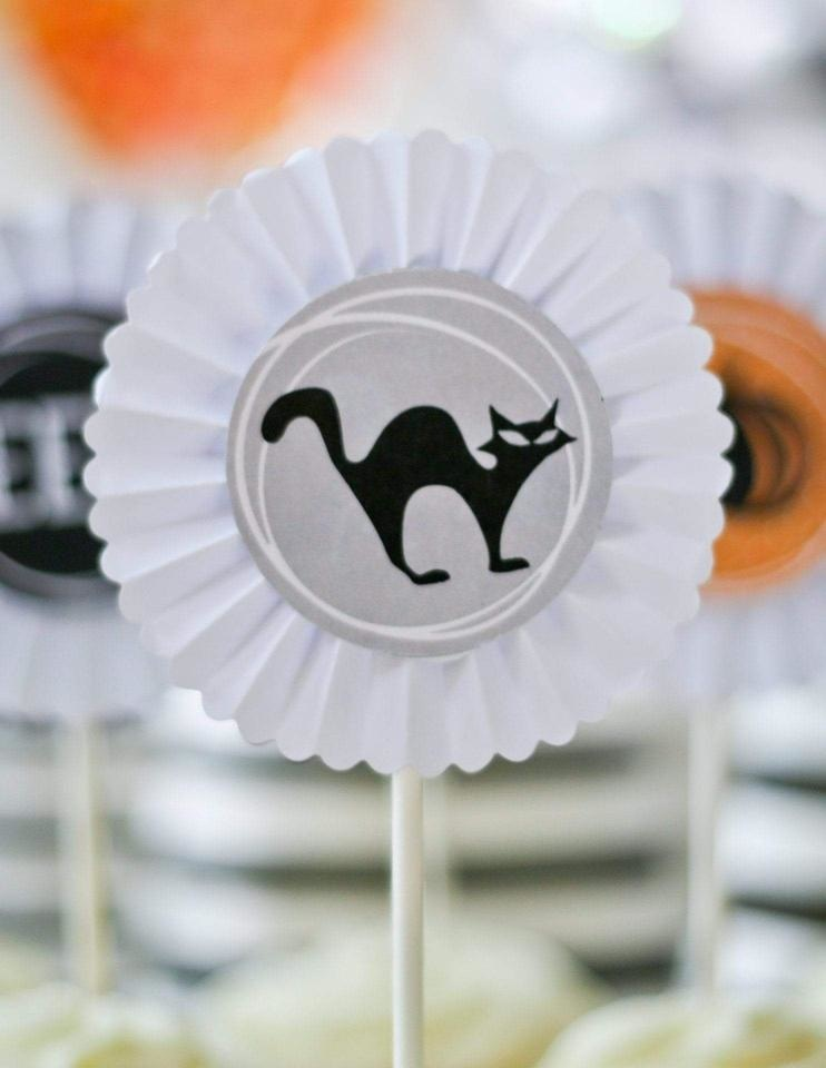 Halloween Cupcake Toppers, Halloween Party Collection, modern party supplies online