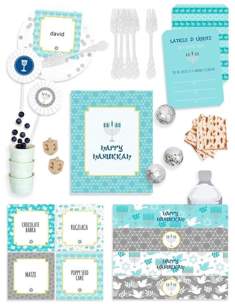 Hanukkah Party In A Box, Holiday Party Collection, modern party supplies online