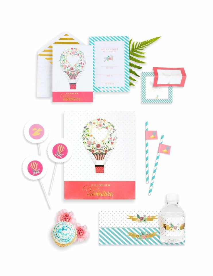 Hot Air Balloon Party In A Box- THE MINI, Dreaming Of Clouds Party Collection, modern party supplies online
